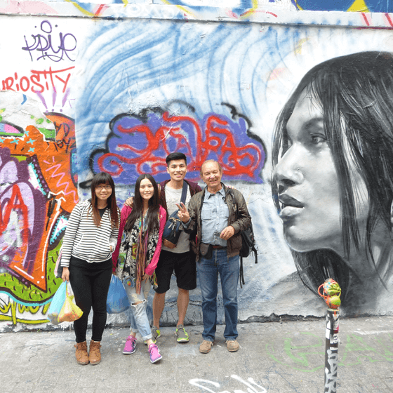 Touristes en balade à Paris